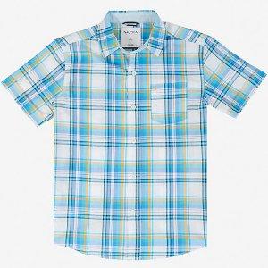 Boys' Plaid Short Sleeve Shirt (8-16) - White | Nautica