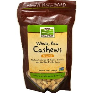 NOW Foods Real Food™ Whole Raw Cashews Unsalted -- 10 oz