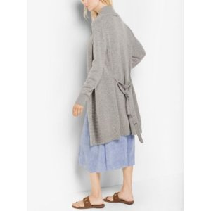 Merino Wool and Cashmere Ribbed Cardigan