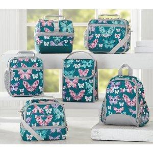 Mackenzie Teal Pretty Butterfly Lunch Bag | Pottery Barn Kids