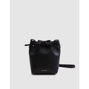 Mansur Gavriel / Mini Mini Bucket in Black/Flamma