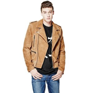 Suede Biker Jacket at Guess