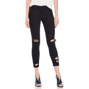 CELLO Distressed Cropped Skinny Jeans