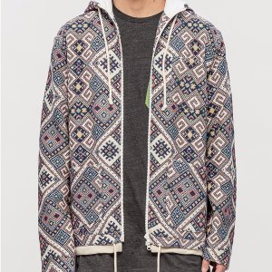 Clot Antique Couch Double Hooded Zip Up Shirt Jacket | HBX.