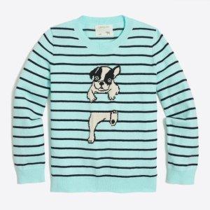 Girls' frenchie intarsia sweater