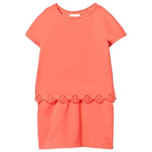 Chloé Orange Broderie Anglaise Tiered Dress | AlexandAlexa