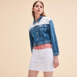 VALDA Two-tone denim jacket