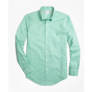 Non-Iron Regent Fit Heathered Oxford Sport Shirt - Brooks Brothers