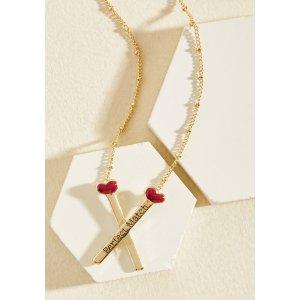 Strike Up a Romance Necklace | ModCloth