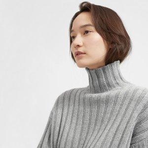 The Wool-Cashmere Rib Oversized Turtleneck