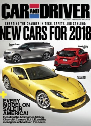 4 Yr Car and Driver Magazine Subscriptions