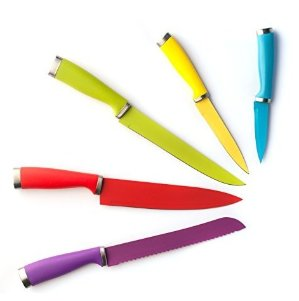 $7.99Domestic Corner 彩色涂层不锈钢刀具5件套