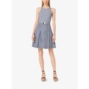 Belted Gingham Dress | Michael Kors