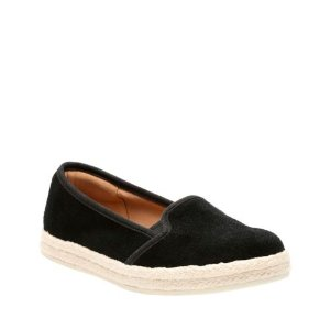 Azella Theoni Black Suede - Women's Collection - Clarks® Shoes Official Site