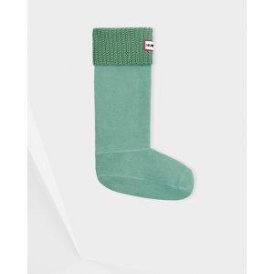 Hunter Green Cardigan Stitch boot Socks | Official US Hunter Boots Store