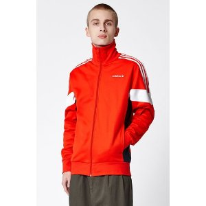 adidas Challenger Red & White Track Jacket at PacSun.com