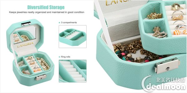6 LANGRIA Lockable Jewelry Box Small Travel Jewelry case Dealmoon