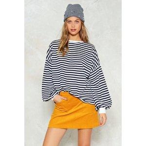 Don't Sweat It Striped Sweater