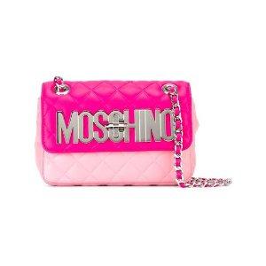 Moschinologo plaque shoulder bag
