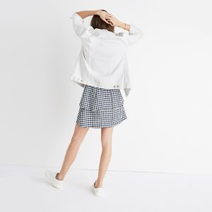 Gingham Tier Mini Skirt