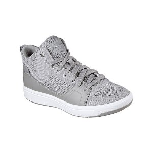 Skechers Gray Downtown Fly High Leather Hi-Top Sneaker | zulily