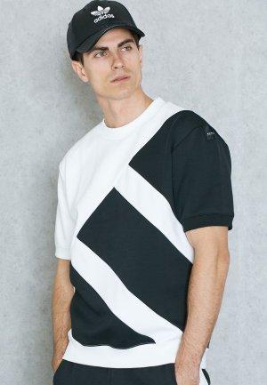 $44.98(原价$60)+免邮!码全!adidas originals时尚黑白EQT短袖热卖