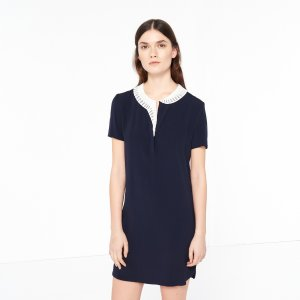 Sandro Dress With Contrasting Collar - Dresses - Sandro-paris.com