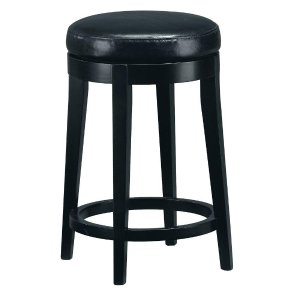 Home Decorators Collection 24 in. Black Swivel Cushioned Bar Stool-4472210210 - The Home Depot