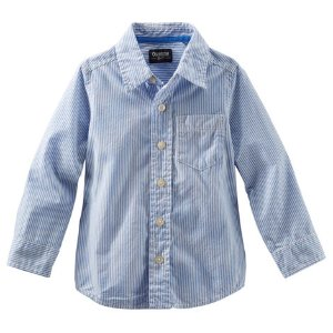 Toddler Boy Striped Button-Front Oxford Shirt | OshKosh.com