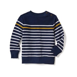 French-Rib Crew-Neck Sweater for Toddler Boys