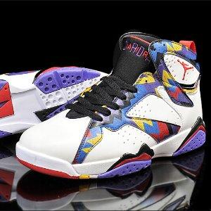 Jordan Retro 7 - Men's - Basketball - Shoes - USA - White/Metallic Gold Coin/Deep Royal Blue