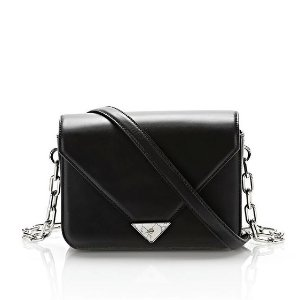 EXCLUSIVE PRISMA ENVELOPE SLING IN BLACK WITH MARBLE DETAIL