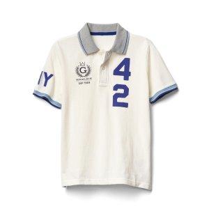 Sporty logo short sleeve pique polo | Gap