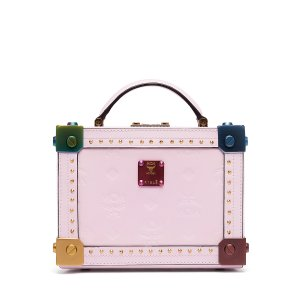 Small Berlin Patent Crossbody in Prism Pink