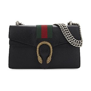 GUCCI - Dionysus web stripe small leather shoulder bag