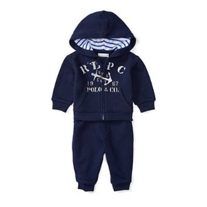 Cotton Hoodie & Pant Set - Outfits & Gift Sets � Baby - RalphLauren.com