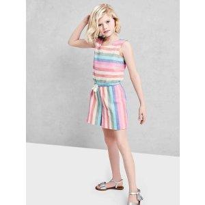Pastel stripe culotte romper | Gap