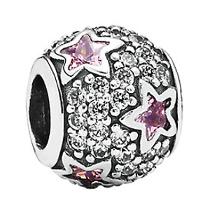 PANDORA Silver CZ Follow The Stars Charm