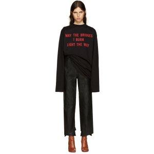 Vetements: Black 'May The Bridges' T-Shirt