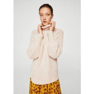 Cable-knit sweater - Women | MANGO USA