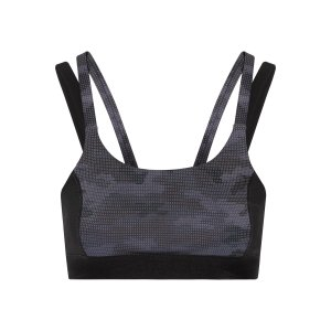 Paneled printed stretch sports bra | Purity Active | US | THE OUTNET