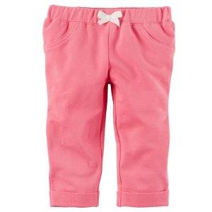 Baby Girl French Terry Pants | Carters.com