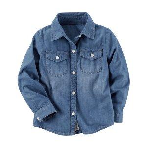 Denim Button-Front Shirt