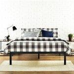 Zinus Modern Studio 14 Inch Platform 1500 Metal Bed Frame , Black, Queen
