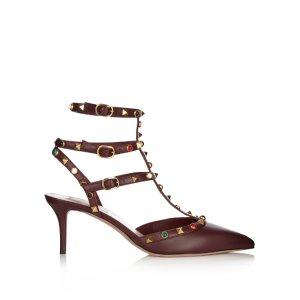 Rolling Rockstud leather pumps | Valentino | MATCHESFASHION.COM US