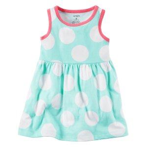 Baby Girl Polka Dot Jersey Dress | Carters.com