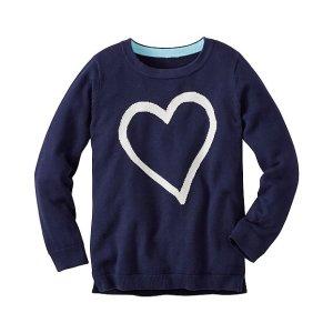 Girls Hi-Lo Intarsia Sweater | Sale Girls Sweaters