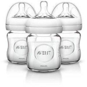 Philips Avent Natural Glass Bottle - 3pk : Target