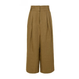 Hessian Linen Cropped Pants - Sale | Official Site