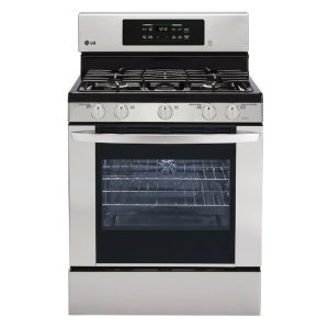Shop LG 5-Burner Freestanding 5.4-cu ft Self-Cleaning Convection Gas Range (Stainless Steel) (Common: 30-in; Actual: 29.9375-in) at Lowes.com